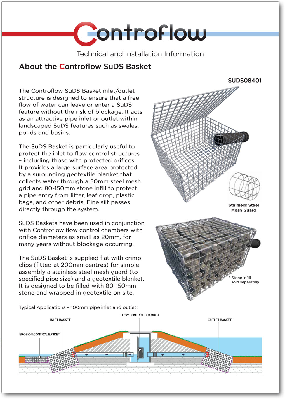 SuDS Basket Installation Guide Cover