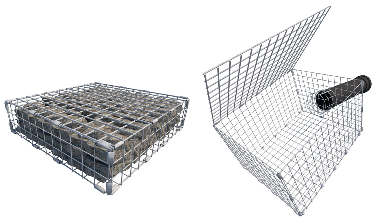 Controflow Stainless Steel Mesh Baskets